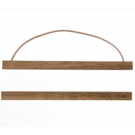 Ferm Living Sistema di sospensione per il poster 'affumicato di quercia `legno, 31x2 cm