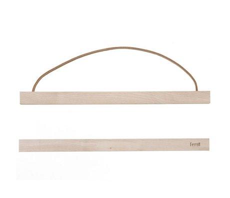 Ferm Living Suspension system til plakat 'MAPLEWOOD `af træ, 31x2 cm