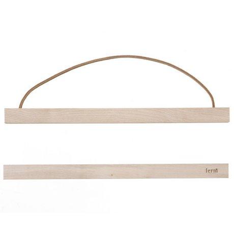 Ferm Living Système de suspension pour l'affiche de 'MAPLEWOOD `de bois, 31x2 cm