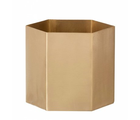 Ferm Living Pot 'hexagone »de cuivre, mat, Ø10 x9m