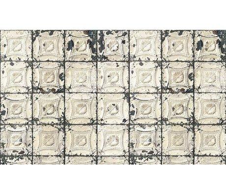 Merci Brooklyn Konserve duvar kağıdı, gri / krem Kalay-01