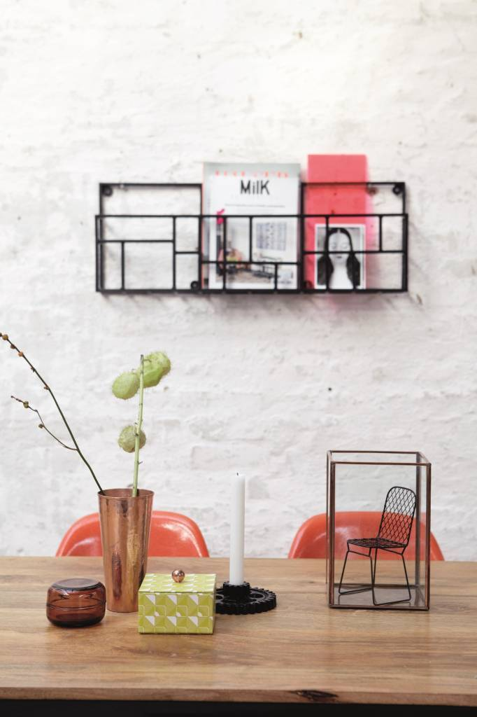 housedoctor zeitschriftenhalter rack aus metall schwarz 70x5xh30cm. Black Bedroom Furniture Sets. Home Design Ideas