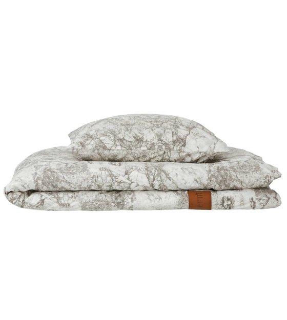 ferm living bettw sche 39 marble 39 aus baumwolle grau wei. Black Bedroom Furniture Sets. Home Design Ideas