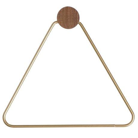 Ferm Living Aseo soporte de papel Brass, de color dorado, 17x5x15cm