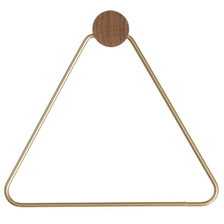 Ferm Living Toilet paper holder Brass, gold colored, 17x5x15cm