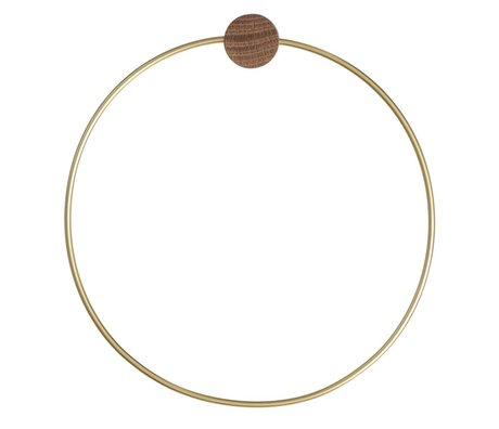 Ferm Living anneau de serviette en laiton, de couleur or, Ø20,5cm