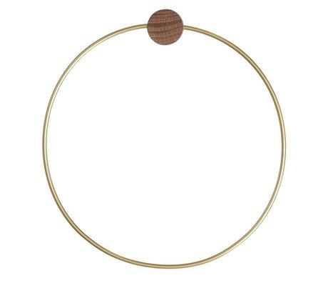 Ferm Living Handtuchring Brass, goldfarbig, Ø20,5cm