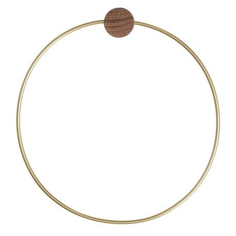 Ferm Living Messing håndklæde ring, guld farvet, Ø20,5cm