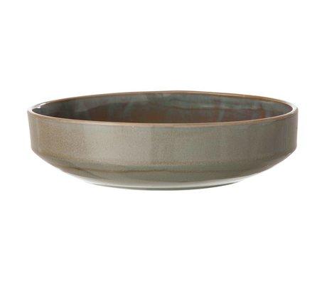Ferm Living Nuevo tazón de cristal, gris, Ø27x7cm