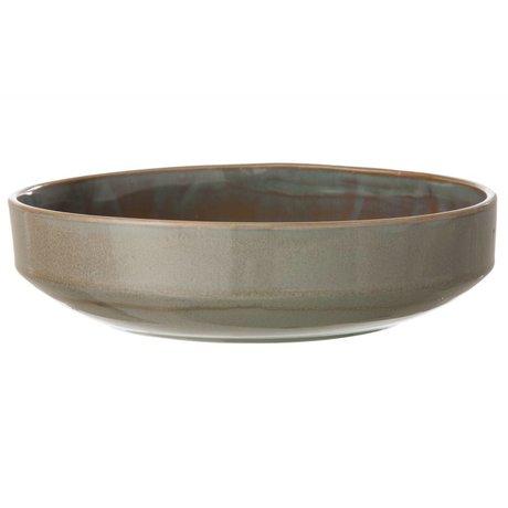 Ferm Living Schale Neu aus glasiertem Stein, grau, Ø27x7cm