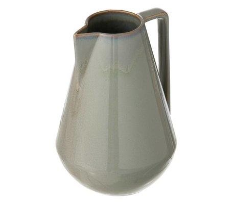 Ferm Living Nuevo jarro de cristal, gris, Ø15x22cm