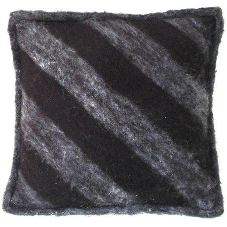 HK-living Yün, siyah / gri, 50x50cm Yastık