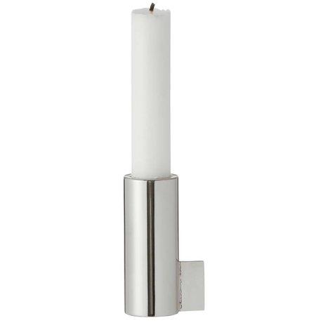 Ferm Living Kerzenständer, silber, 3,5x8cm