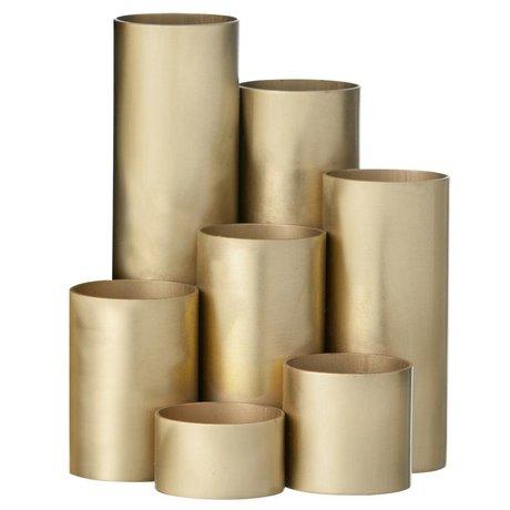 Ferm Living Titular de la pluma de latón, oro, 15x13cm