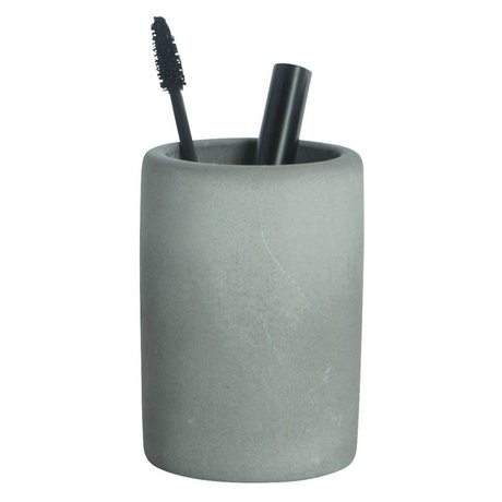 Housedoctor Tandbørsteholder af cement, grå, Ø7,6x11,3cm
