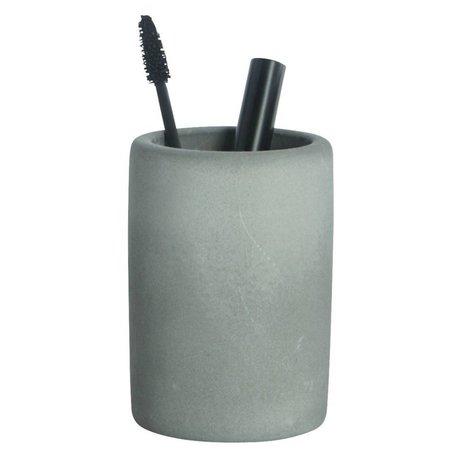 Housedoctor Zahnbürstenhalter aus Zement, grau, Ø7,6x11,3cm