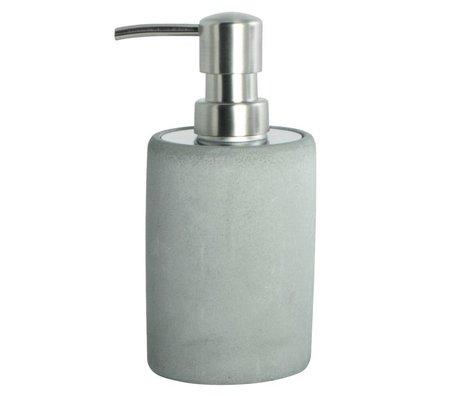 Housedoctor Distributeur de savon fabriqué de ciment, gris, Ø7,6x17,1cm