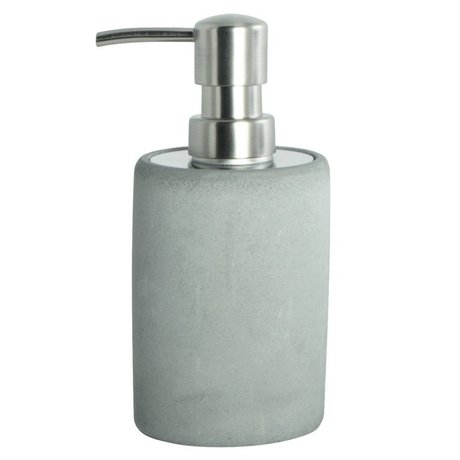 Housedoctor Soap dispenser made of cement, gray, Ø7,6x17,1cm