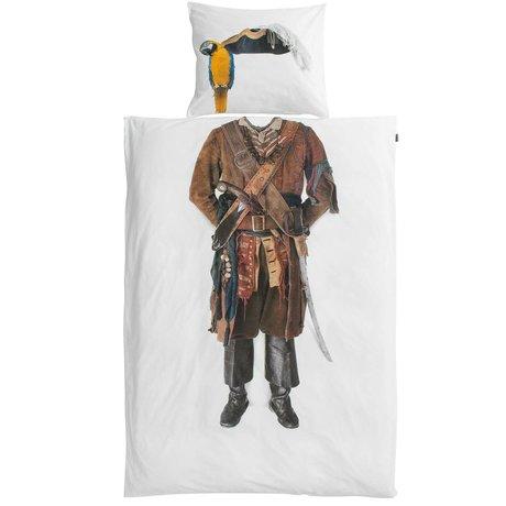 Snurk Beddengoed Bettwäsche Pirat aus Baumwolle, 140x220cm