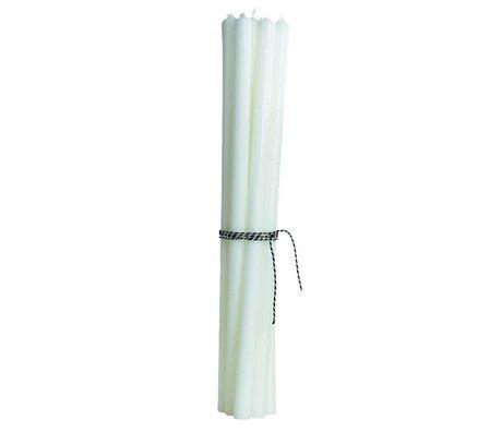 Housedoctor Pencil Candles (sæt af 12), hvid, H30cm
