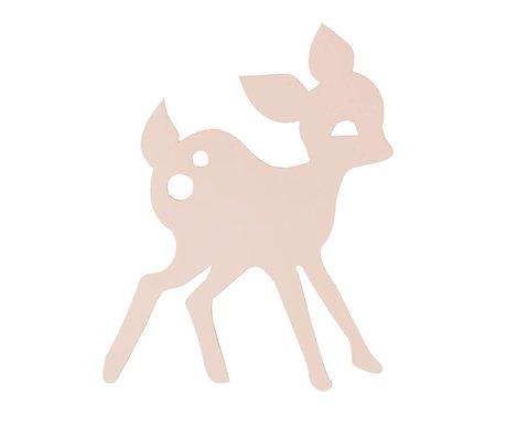 Ferm Living Lampada da parete in legno My Deer, rosa, 27x38,5cm