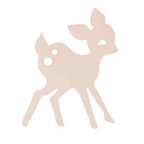 Ferm Living Applique Mon bois de cerf, rose, 27x38,5cm