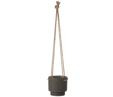Ferm Living Pot Plant hanger aus Stein und Seil, Ø15x14,4cm