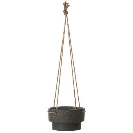 Ferm Living Cintre Plante en pot de pierre et de la corde, Ø21,5x13cm