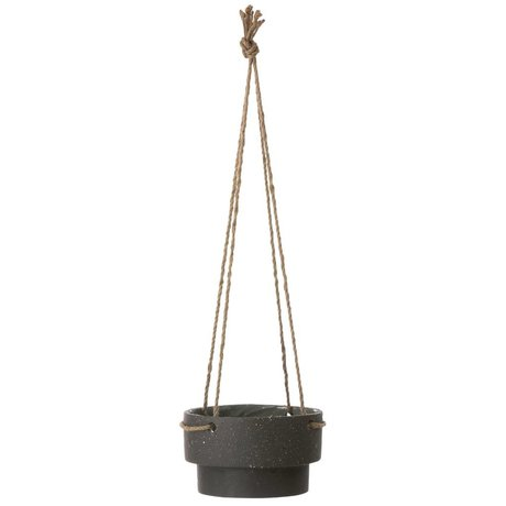 Ferm Living Percha Planta de tiesto de piedra y cuerda, Ø21,5x13cm