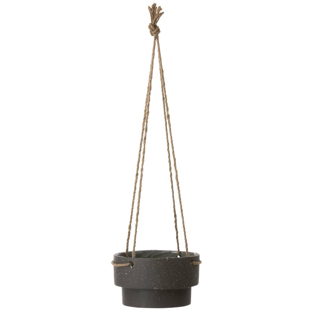 Ferm Living Pot Plant Hanger Made Of Stone And Rope, Ø21,5x13cm    Lefliving.com