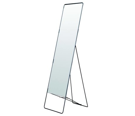 Housedoctor Mirror stående Chiq metal, sort, 45x175cm