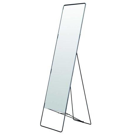Housedoctor Ayna Chiq metal ayakta, siyah, 45x175cm