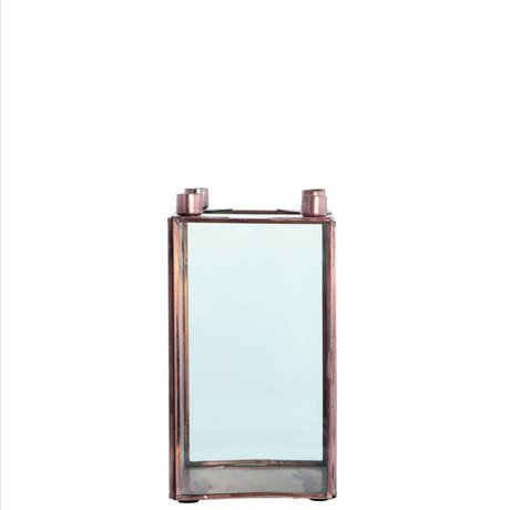 Housedoctor Candlesticks SQUARE metal, copper, 10x10xh18cm