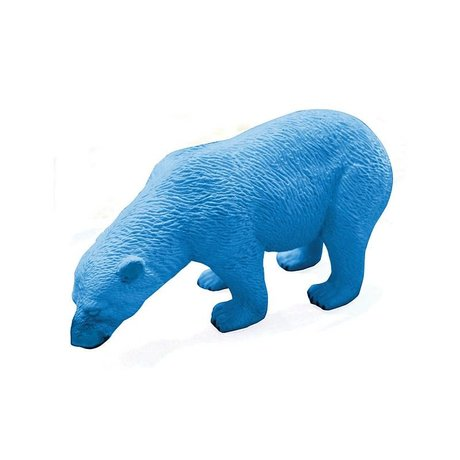 LEF collections Borrador oso polar, azul, L12cm