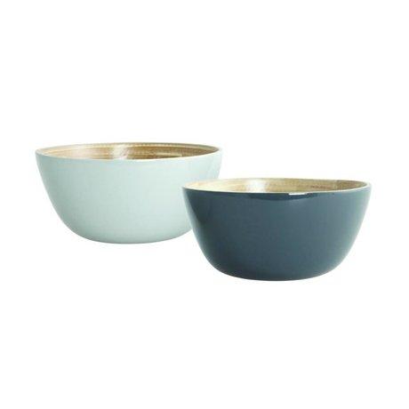Nicolas Vahé Bowl Set Cravina bamboo, gray, Ø12,5cm