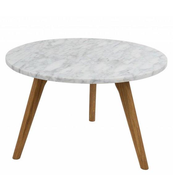 Beistelltisch Marmor zuiver beistelltisch whitestone large aus marmor weiß grau