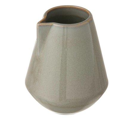 Ferm Living Krug Neu aus glasiertem Stein, grau, small Ø9x10,5cm