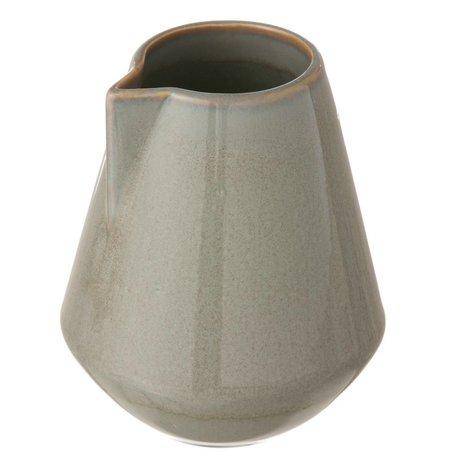 Ferm Living New jug glazed stone, gray, small Ø9x10,5cm
