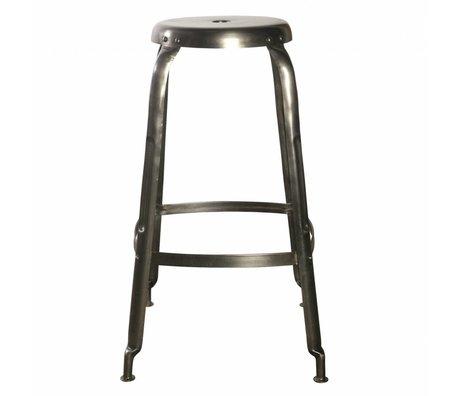 Housedoctor Barhocker Define aus Metall, grau, Ø36x75cm