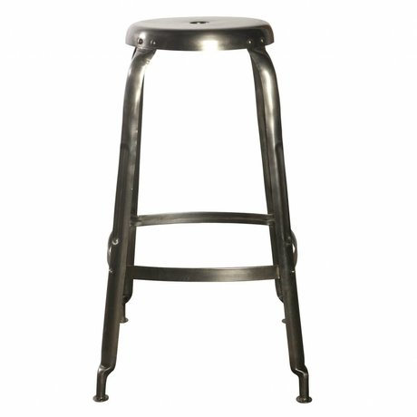 Housedoctor Define bar stools made of metal, gray, Ø36x75cm