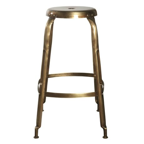 Housedoctor Define bar stools made of metal, gold, Ø36x75cm