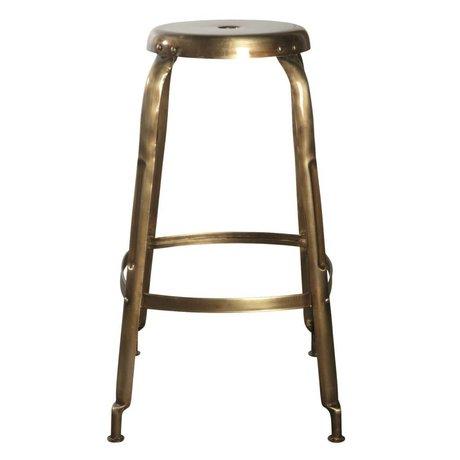 Housedoctor Metal, altın, Ø36x75cm yapılan bar tabureleri tanımlayın