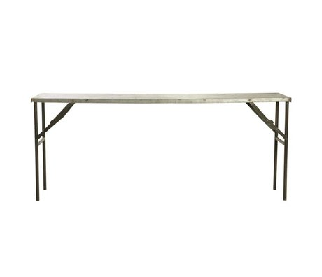 Housedoctor table de marché faite de métal, gris, 183x46x75cm