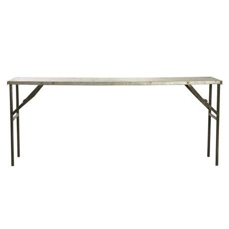 housedoctor esstisch 39 form 39 aus eisen holz schwarz braun 200x80x74cm. Black Bedroom Furniture Sets. Home Design Ideas