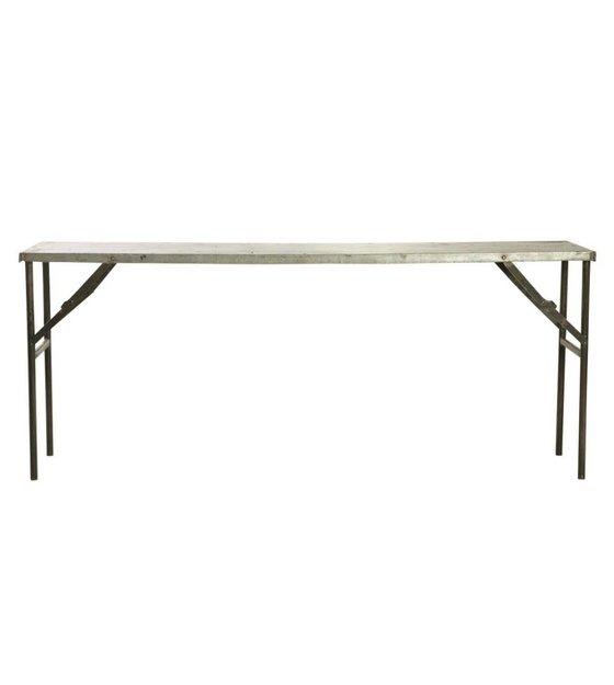 housedoctor tisch market aus metall grau 183x46x75cm. Black Bedroom Furniture Sets. Home Design Ideas