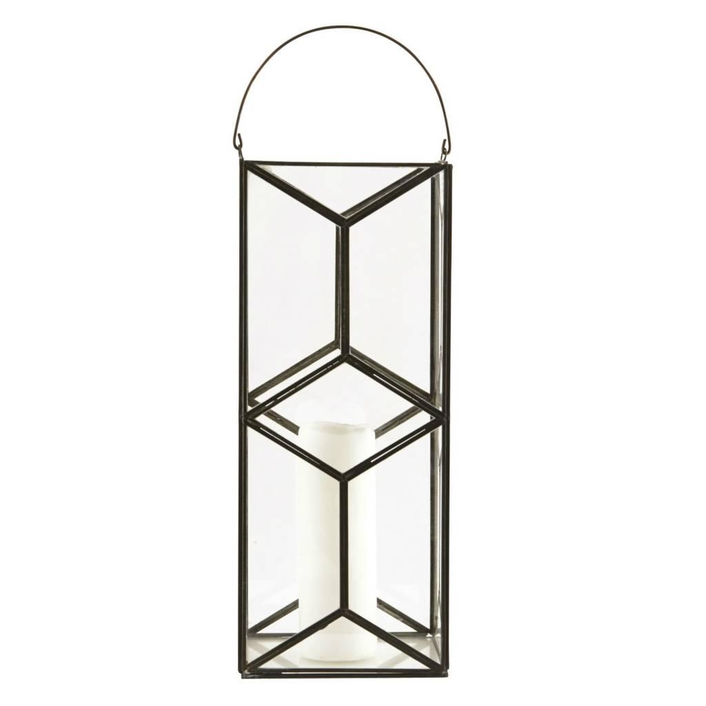 housedoctor laterne kerzenhalter mozaik dunkel antik 16 5x16 5x40cm. Black Bedroom Furniture Sets. Home Design Ideas