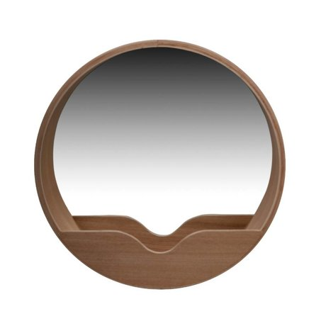 Zuiver Runde Wall Mirror i eg, Ø40x8cm