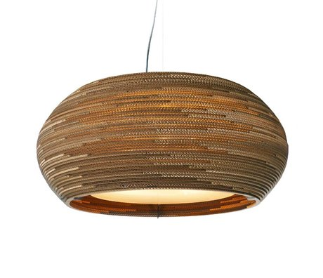 Graypants Hanging Lamp Ohio 24 cartone, marrone, Ø61x24cm