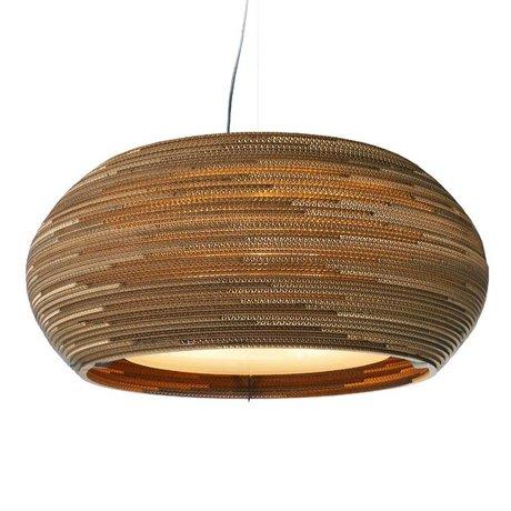 Graypants Hængende lampe Ohio 24 pap, brun, Ø61x24cm