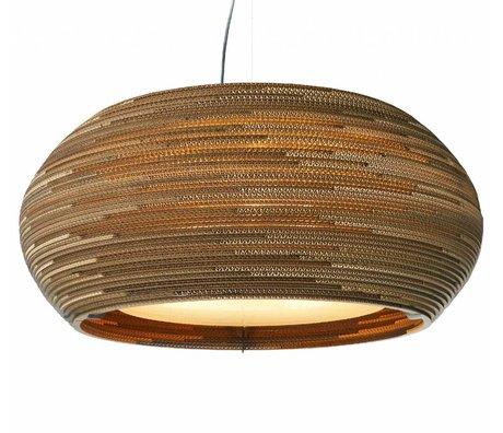 Graypants Hanging Lamp Ohio 32 cardboard, brown, Ø82x33cm